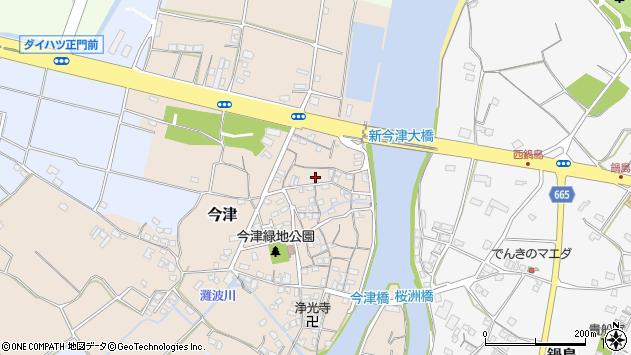大分県中津市今津99周辺の地図