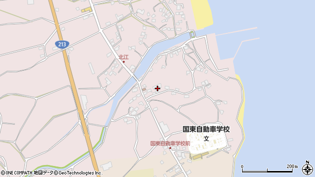 大分県国東市国東町北江4143周辺の地図