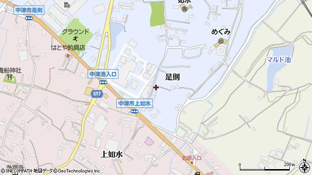 大分県中津市是則1148周辺の地図
