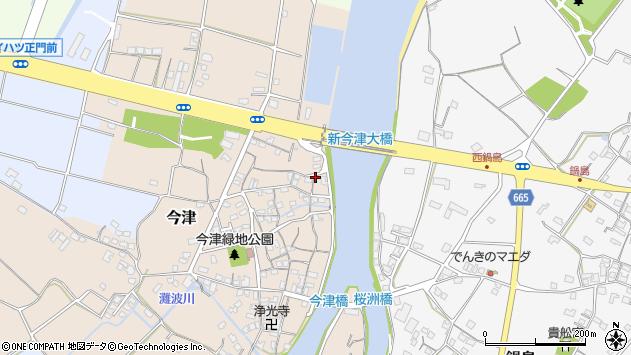 大分県中津市今津131周辺の地図