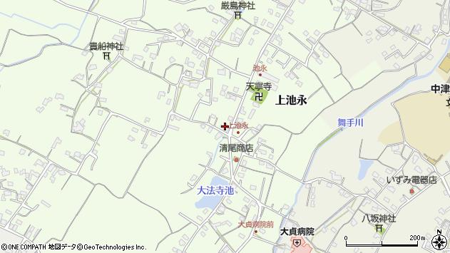 大分県中津市上池永427周辺の地図
