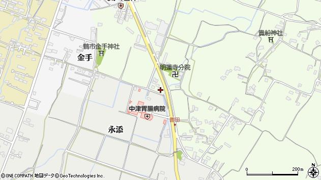大分県中津市上池永1090周辺の地図