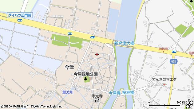 大分県中津市今津103周辺の地図