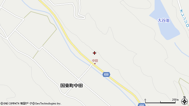 大分県国東市国東町中田2578周辺の地図