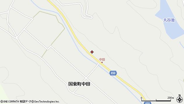 大分県国東市国東町中田2622周辺の地図