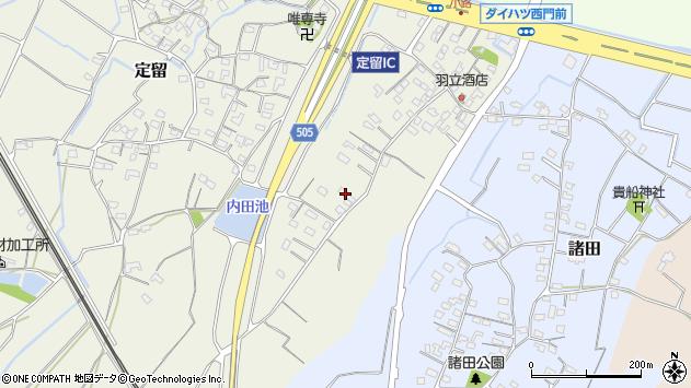 大分県中津市定留227周辺の地図