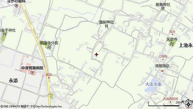 大分県中津市上池永796周辺の地図