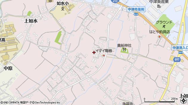 大分県中津市上如水479周辺の地図