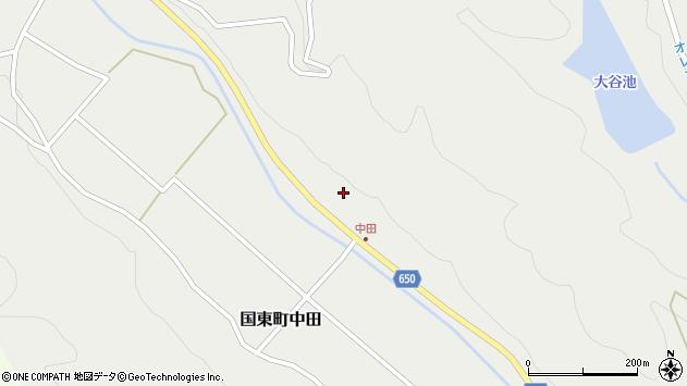 大分県国東市国東町中田2573周辺の地図