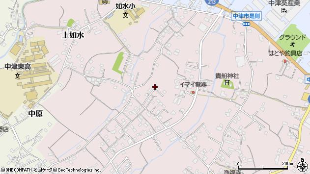 大分県中津市上如水444周辺の地図