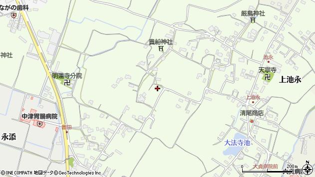 大分県中津市上池永820周辺の地図