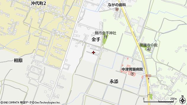 大分県中津市金手153周辺の地図