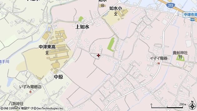 大分県中津市上如水250周辺の地図