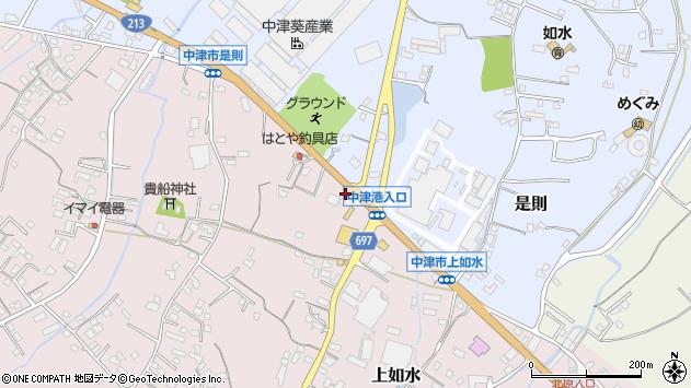 大分県中津市上如水1311周辺の地図