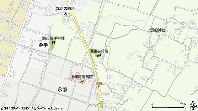 大分県中津市上池永1086周辺の地図