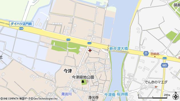大分県中津市今津36周辺の地図