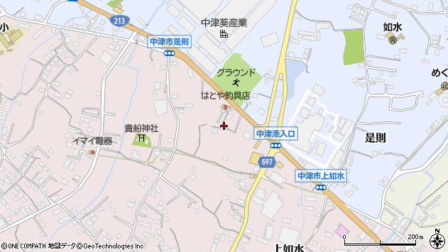 大分県中津市上如水1306周辺の地図