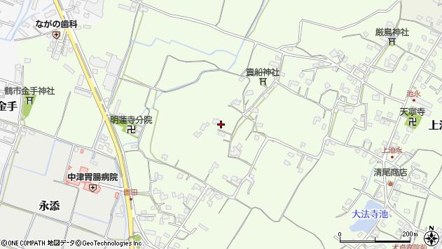 大分県中津市上池永780周辺の地図