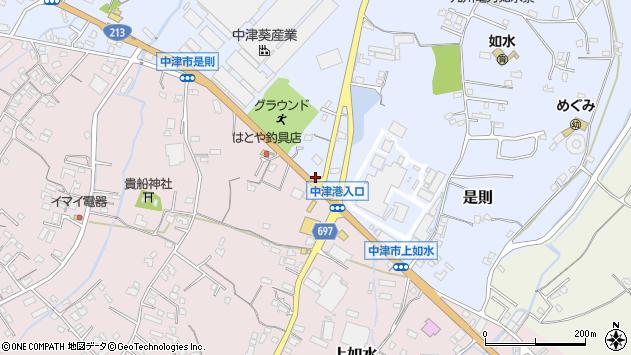 大分県中津市是則741周辺の地図