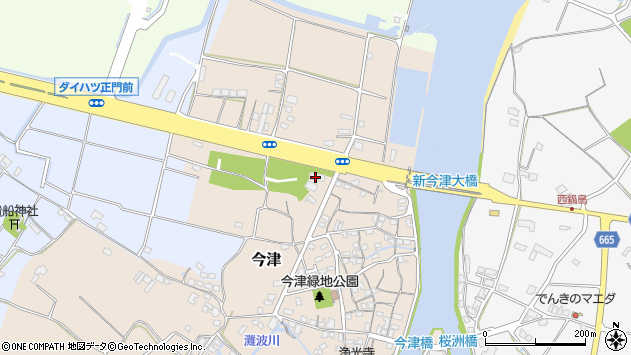 大分県中津市今津41周辺の地図