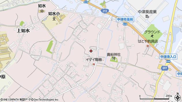 大分県中津市上如水457周辺の地図
