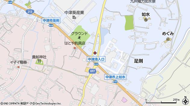 大分県中津市是則745周辺の地図