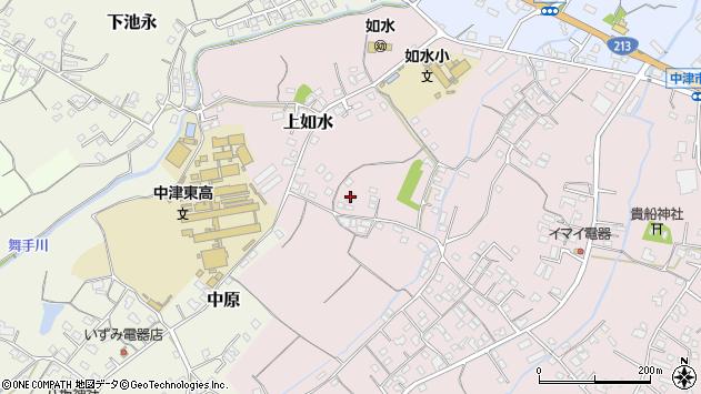 大分県中津市上如水241周辺の地図