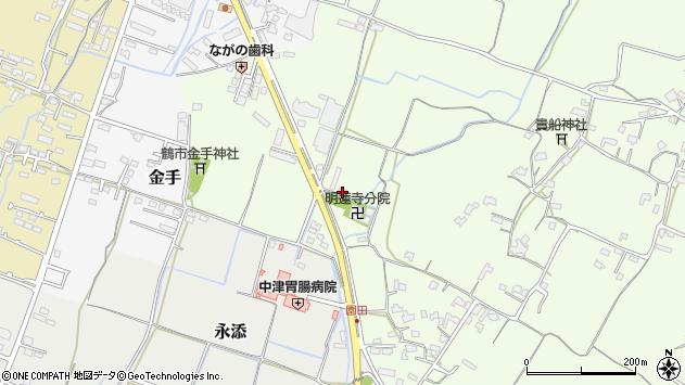 大分県中津市上池永1098周辺の地図