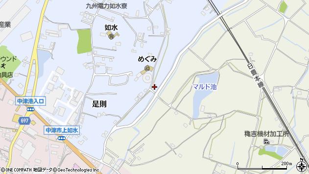 大分県中津市是則1178周辺の地図