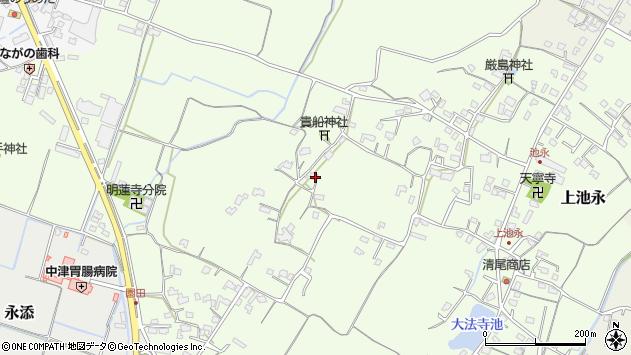 大分県中津市上池永829周辺の地図