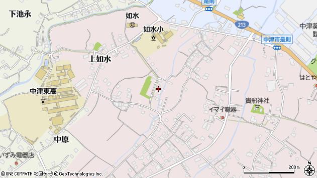 大分県中津市上如水221周辺の地図