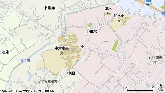 大分県中津市上如水145周辺の地図