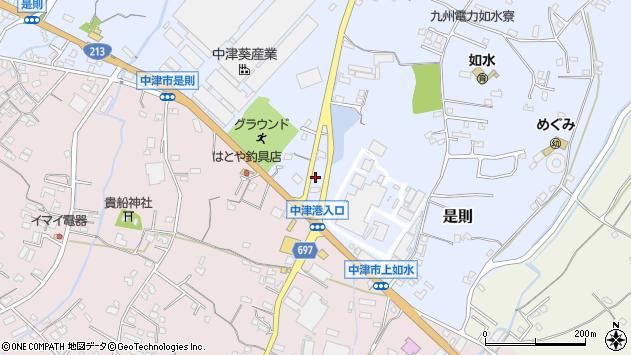 大分県中津市是則746周辺の地図
