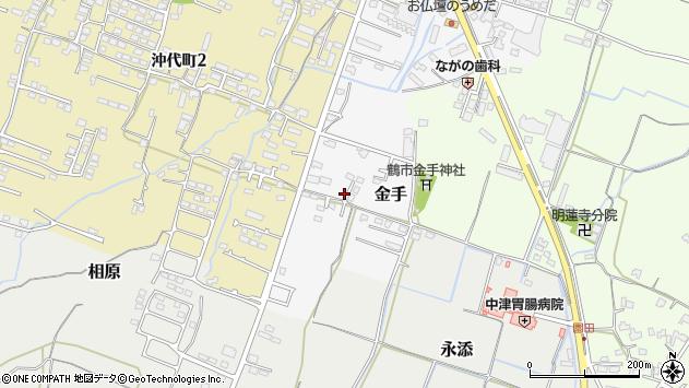 大分県中津市金手138周辺の地図