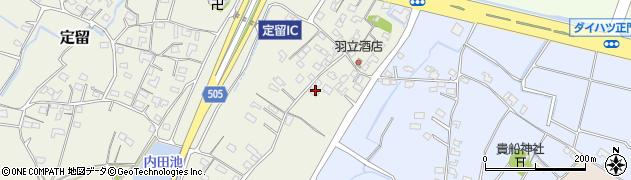 大分県中津市定留257周辺の地図