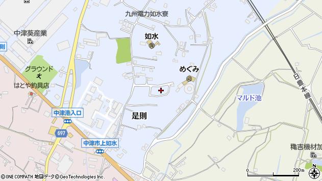 大分県中津市是則1181周辺の地図