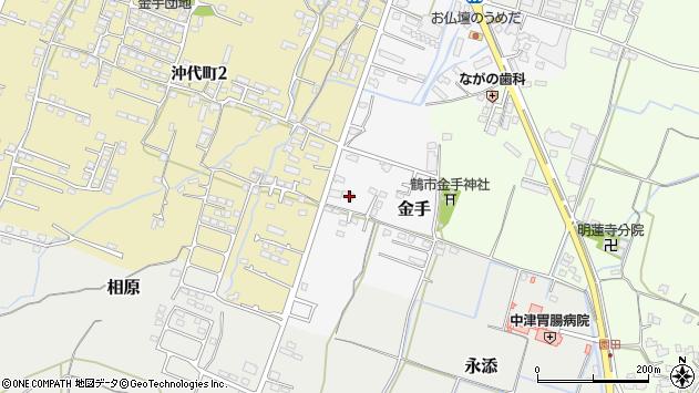 大分県中津市金手128周辺の地図