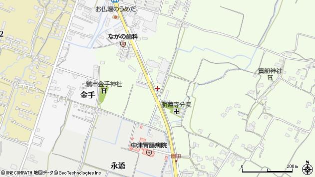 大分県中津市上池永1247周辺の地図