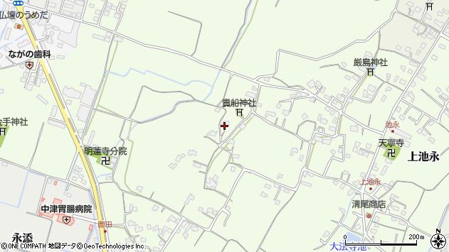 大分県中津市上池永834周辺の地図
