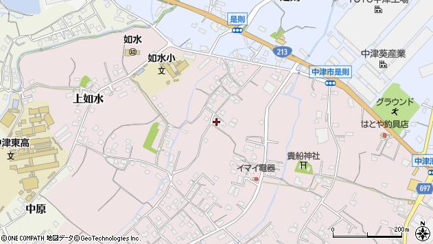 大分県中津市上如水406周辺の地図