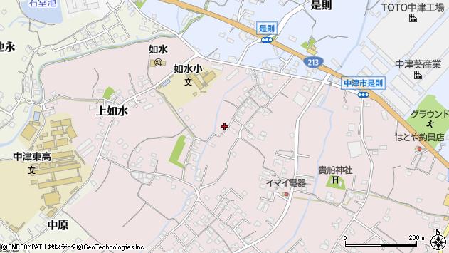 大分県中津市上如水208周辺の地図