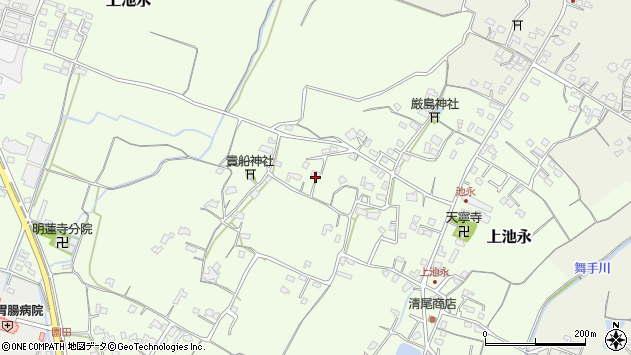 大分県中津市上池永886周辺の地図