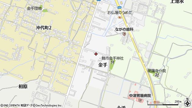 大分県中津市金手139周辺の地図