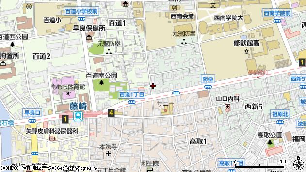福岡県福岡市早良区西新7丁目1 地図(住所一覧から検索 ...