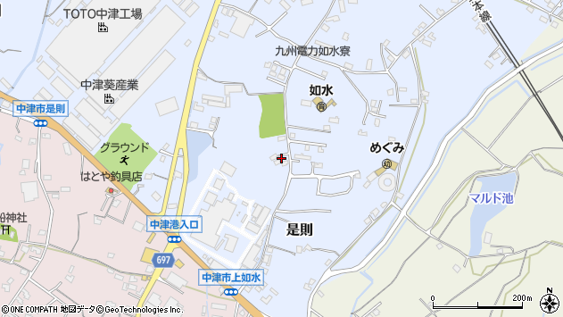 大分県中津市是則1081周辺の地図