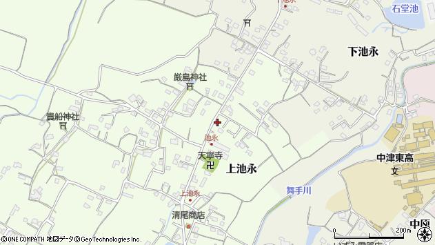 大分県中津市上池永周辺の地図