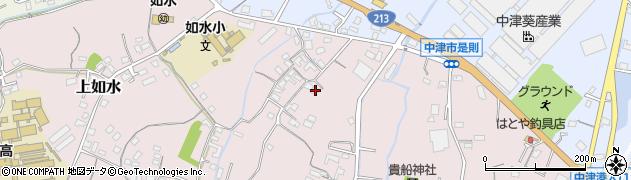 大分県中津市上如水389周辺の地図