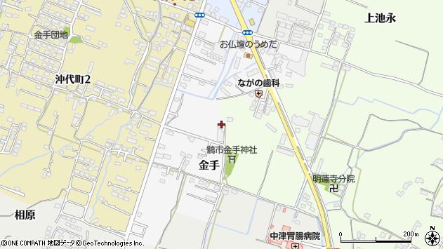 大分県中津市金手111周辺の地図