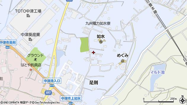 大分県中津市是則1079周辺の地図
