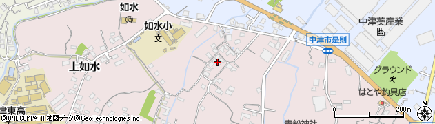 大分県中津市上如水408周辺の地図